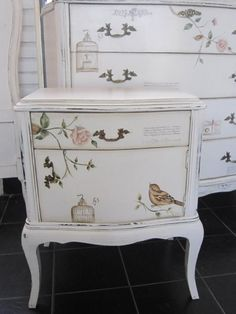 pretty..paint and decoupage???