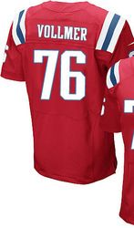 """$78.00--Sebastian Vollmer Red Elite Jersey - Nike Stitched New England Patriots #76 Jersey,Free Shipping! Buy it now:click on the picture, than click on """"visit aliexpress.com"""" In the new page."""