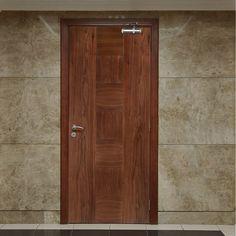 Bespoke Catalonia Walnut Fire Door.    #walnutdoor #bespokedoor #firebespokedoor #madetoorderdoor #internaldoor #modernonteriordoor #unusualsizedoor