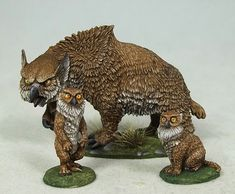 Owlbear and Cubs - DiTerlizzi Masterworks - Miniature Lines