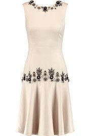 Mikael Aghal Embellished satin dress