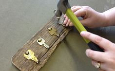 What a cute idea..... boy do I have the keys for this LOL   Repurpose: Key Rack From Old Keys - May/June 2012 - Sierra Magazine - Sierra Club