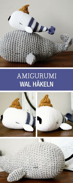 DIY-Anleitung: Amigurumi Wal häkeln, maritime Wohndeko, Spielzeug für Kinder / DIY tutorial: crocheting amigurumi whale, maritime home decor or childrens toy via DaWanda.com