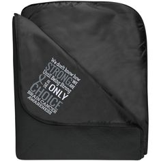 Fleece & Poly Travel Blanket - We Don't Know How Strong...