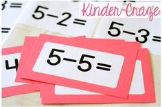 FREE labels to make your own addition and subtraction flashcards