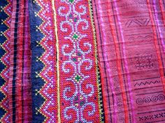 gorgeous color - Thai Hill Tribe Spread