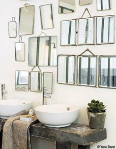 Bathroom Interior Design Vintage Mirror 57 Ideas For 2019 Old Mirrors, Vintage Mirrors, Bathroom Mirrors, Bathroom Bench, Mirror Bedroom, Rustic Mirrors, Small Mirrors, Remodel Bathroom, Bathroom Interior