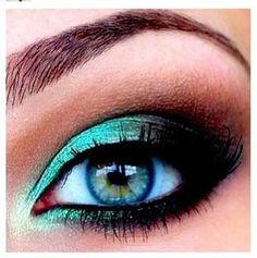 Mermaid makeup, this green would be gorgeous (and make pop) on any hazel eyes