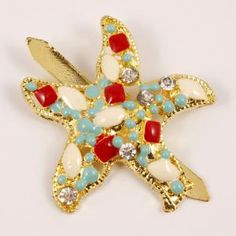 Επίχρυσος Αστερίας Σμάλτο(2.8cm) Brooch, Jewelry, Fashion, Moda, Jewlery, Bijoux, Fashion Styles, Brooches, Schmuck