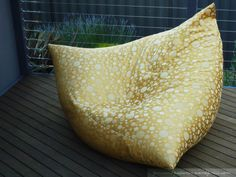 Morgan's Sunshine Seat made from Triangle Pillow Bean Bag Pattern