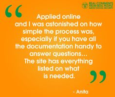 #RealQuotes from #RealPeople (like Anita) about the information in our online applications  www.socialsecurity.gov/hlp/isba/10/isba-checklist.pdf