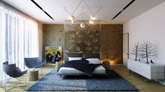 Headboard feature walls always create a great focal point.