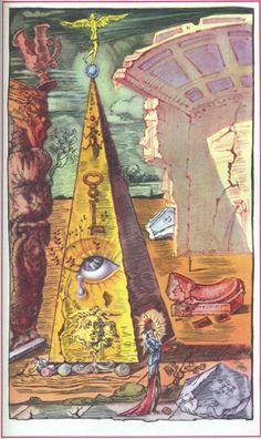 Salvador Dali Illustration The Eye of Providence L'art Salvador Dali, Salvador Dali Paintings, Max Ernst, Rene Magritte, Art Visionnaire, Jean Arp, Alberto Giacometti, Spanish Artists, Art Moderne