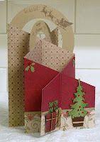 tri-fold cascade card example -- for christmas
