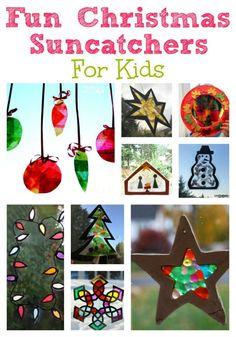 Christmas Suncatchers for Kids - Crafts on Sea