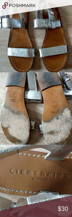 Liebeskind Berlin sz EU 40 (US 9) silver Sandal Liebeskind Berlin sz EU 40 (US 9) silver leather Sandal Liebeskind Shoes Sandals