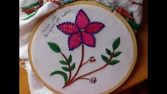 Hand Embroidery Designs # 173 - Herringbone with knotted design