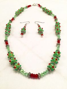 A personal favorite from my Etsy shop https://www.etsy.com/listing/257099398/christmas-necklace-earring-set-christmas