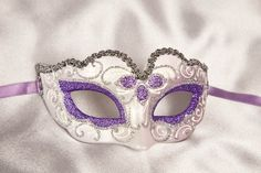 purple masquerade masks | Small Masquerade Masks - Masquerade Masks for Kids - Piccolina Silver