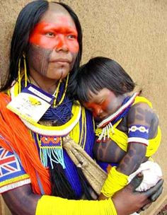 The Kayapo tribe lives alongside the Xingu River in the eastern part of the Amazon Rainforest,o near the Amazon basin, in several scattered villages.