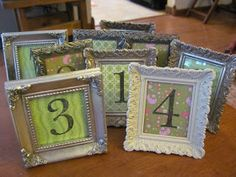 The Mountains Called...: Picture Frame Table Numbers