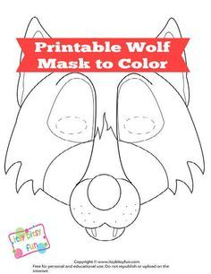Print out your very own wolf mask - perfect for kids to play with or adults to goof around.