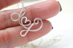 Two lovers custom initial necklace Sterling by dsignzbyrosie, $34.50
