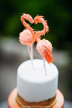 Top your cake with something bright and colorful for a fun-in-the-sun summer wedding | Hoffer Photography