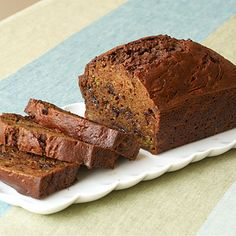 "Chocolate Chip Zucchini Bread by Cooking Light. This moist and cake-like chocolate chip zucchini bread is the perfect way to make sure you are eating your vegetables but still enjoying a sweet treat. ""After searching for a chocolate zucchini bread recipe that didn't require a lot of oil, I came up with this winner. My four-year-old son, Andrew, really likes it, and it's great to be able to enjoy something that's healthy and chocolate at the same time."" -Elizabeth Alcorn, Fort Mitchell, KY"