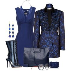 """Devil in a Blue Dress"" by lisa-holt on Polyvore"