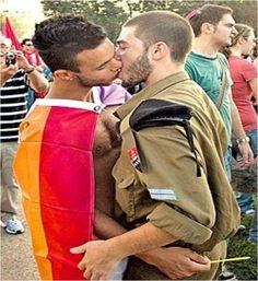 """Previous pinner pinned this on to her board, """"Things I hate"""". """"Gay pride will never be okay"""". Look at this beautiful couple. Why not?"""