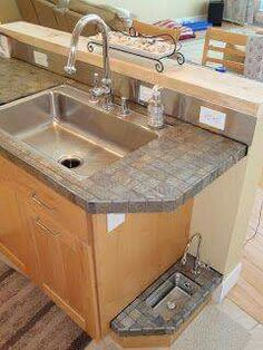 """Adventures in Home Building Canine Refreshment Station or """"The Doggie Bubbler"""" - keeping puppy out of kitchen. Dog Rooms, Dog Houses, My Dream Home, Future House, Home Projects, Home Remodeling, Home Kitchens, Kitchen Remodel, Building A House"""