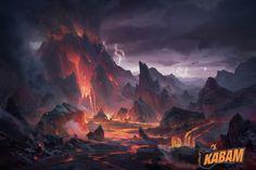 ArtStation - Volcano, Yin Wang