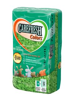Carefresh Pet Bedding Confetti Colors Green
