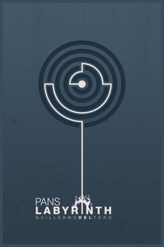 Pan's Labyrinth minimal movie poster. not that representative, but still cool.