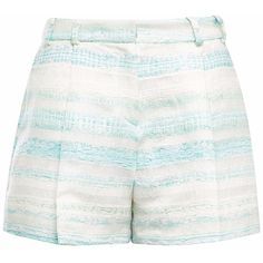 Gyunel - Woven Pleated Shorts (€1.105) ❤ liked on Polyvore featuring shorts, bottoms, short, woven shorts, pleated shorts, short shorts and jacquard shorts