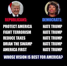 Whose vision is better? Americans or Democrats ⁉️