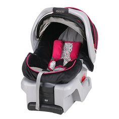 """Graco SnugRide 30 Infant Car Seat - Mirabella - Graco - Babies """"R"""" Us  Supposed to be good for small cars. Up to 30 pounds baby."""
