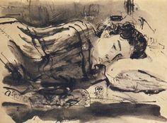 S. Sudjojono - Rose Sedang Tidur