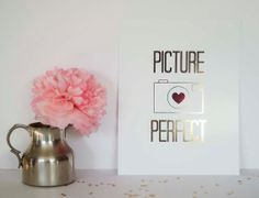 Picture Perfect Gold Foil Print Fashion Art by AllThingsPrettyBlog, $21.95
