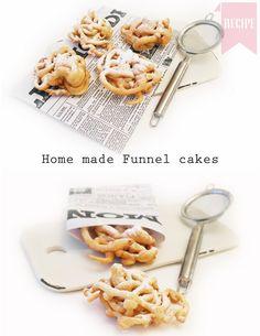 sugar dusted funnel cakes recipe - yum!