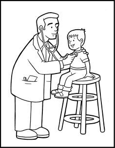 Free Printable Community Helper Coloring Pages For Kids Free Coloring Pages Of Doctor Nurse Community And Coloring Pages Free Coloring Pages Coloring For Kids