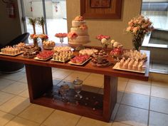 MAG FESTEIRA : Festa Rosas . Mesa de doces. Rose Party