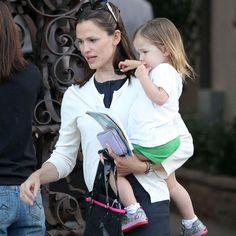Jennifer Garner with daughter Seraphina Affleck.