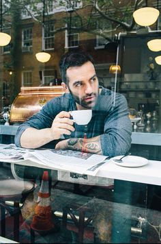 Ramin Karimloo. Was searching for photoshoot with teacups when I found this!