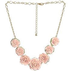 7 Rose Statement Necklace ($8.50) ❤ liked on Polyvore