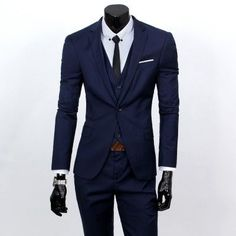 Slim Fit Three Piece Mens Suit