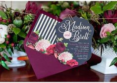 Marsala wedding Invitation ~~~Boda a la Moda~~~ | NoviasRD