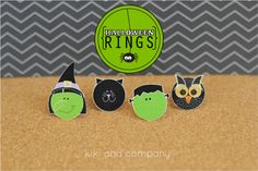 Halloween Rings {Free Printable}