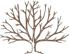 Bare tree | Brown Bare Tree clip art - vector clip art online, royalty free ...